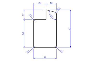 Hardhout Raamprofiel Stijl RP1 (Enkelglas) 40x67x3350mm