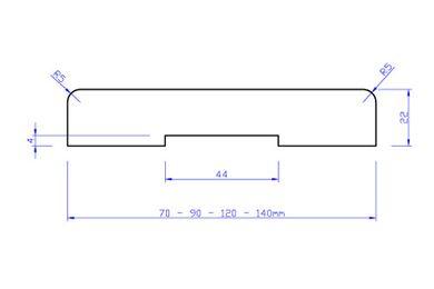 Beuken Stofdorpel JT13 FSC 23x120x950mm
