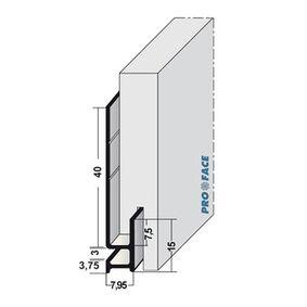 proface startprofiel k aluminium geanodiseerd 3055mm