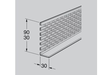 WERZALIT Colorpan Ventilatieprofiel C000 Zwart PVC 30x30x2500mm
