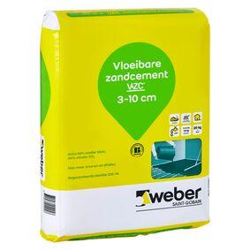 weber.floor vloeibare zandcement zak 20kg