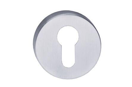 comfidoor cilinderrozet round rvs (set van 2 stuks)