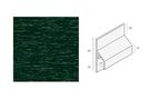 KERALIT Aansluitprofiel trim/kraal 2843 6009 Donkergroen Classic nerf Fiberyl 6000mm