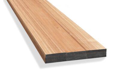 Meranti Plank Geschaafd 28x190x4300mm