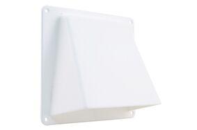 gevelklep 1-klep 125mm wit