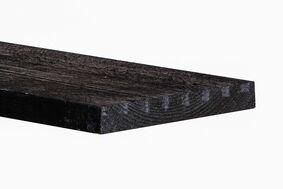 topgold vuren vlotdeel ruw druk geïmpregneerd zwart 25x200x5000