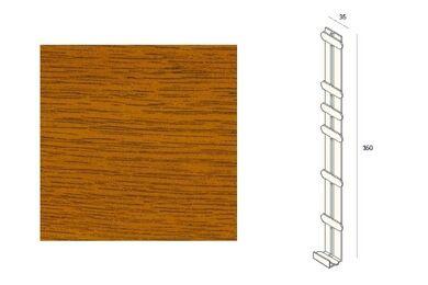 KERALIT 2848 Dakrand Tussenstuk 350mm Golden Oak Classic Nerf
