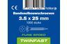 pontmeyer bandsnelbouwschroeven twinfast fijne spoed 3,5x25mm 1000st
