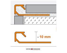 schluter tegelprofiel vierkant aluminium geanodiseerd q100ae 10x3000mm