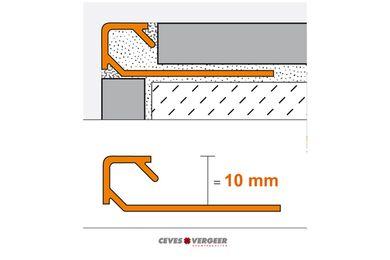 SCHLÜTER Tegelprofiel Vierkant Aluminium Geanodiseerd 10x3000mm