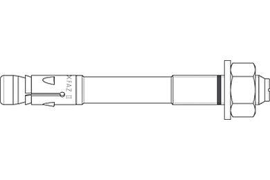 FISCHER FAZ ii Ankerbout 10x10mm
