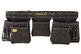 stanley gereedschapsgordel leder dubbel stst1-80113 zwart