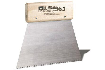 bison lijmkam metaal houten handvat no 3