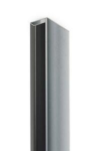 eternit aluminium eindprofiel everest wit c01 3000mm