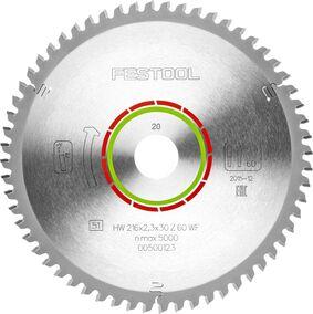 festool cirkelzaagblad speciaal wz/fa60 216x2,3x30