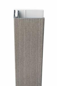 protex aluminium eindprofiel 2-delig vergrijsd ceder 3000mm
