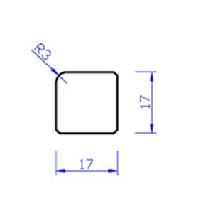 meranti glaslat b1 80mu gegrond  17x17x4000
