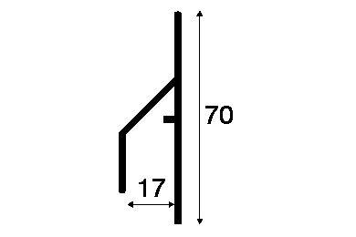 KERALIT 2810 Trim/Kraal Aansluitprofiel 17mm Basaltgrijs Classic Nerf 6000mm