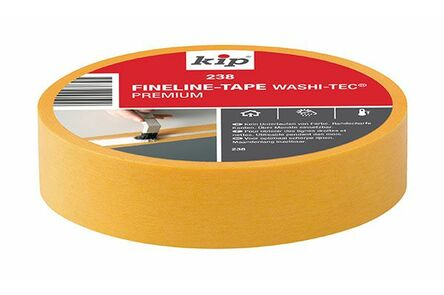 kip fineline tape washi 238 24mm x 50m geel