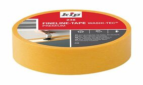 kip fineline tape washi 238 24mm x 50m geel