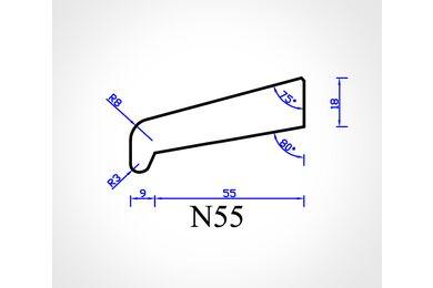 Meranti Glaslat Neus Wit N55 FSC 18x70x4000mm