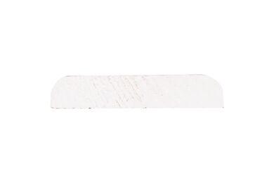 Grenen Afdeklijst Recht Gegrond Wit FSC 8x41x2700mm