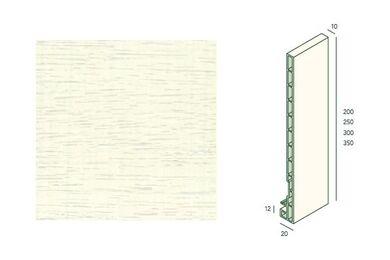 KERALIT Dakrandpaneel 200mm Wit Classic Nerf L= 6000mm