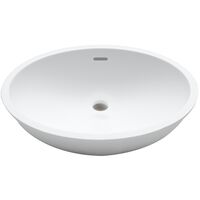 Krion Solid Surface Spoelbak B417 E Snow White 460x370x183mm
