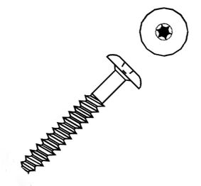 keralit torxschroef donkerbruin 8017 32mm 100st