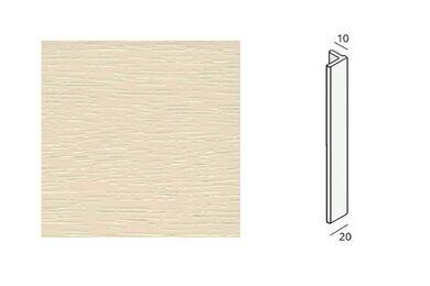 KERALIT Eindprofiel 10 mm Creme RAL 9001 Classic Nerf