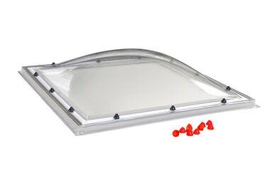 SKYLUX Lichtkoepel Polycarbonaat Helder Enkelwandig 80x80cm