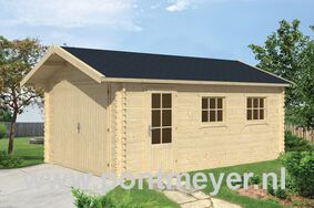 garage 45mm geir 3600x5370x2850 inclusief dakshingles