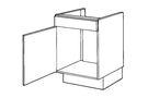BRUYNZEEL Gootsteenkast Thema Wit Links 170Gr Scharnieren 50x51,5cm
