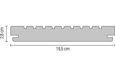 Accoya Vlonderplank Geschaafd Geprofileerd B-Fix 28x195x4800mm FSC