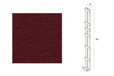 KERALIT 2848 Dakrand Tussenstuk 350mm Wijnrood Classic Nerf