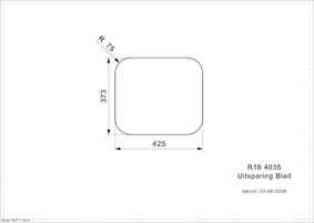 reginox spoelunit vierkant r18 4035osk rvs opbouw
