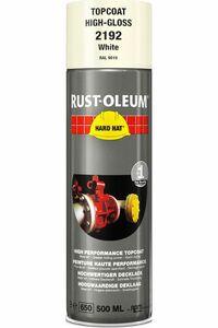 rustoleum hardhat verfspuitbus ral9010 wit glans 500ml