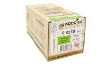 WOODIES Ultimate Schroef Verzonken Kop Torx T25 5,0x60/35mm RVS