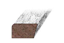 Hardhout Halve Koplat Recht JT10 Gegrond 13x20x4900mm