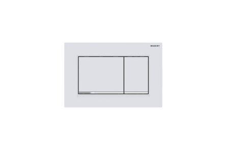 geberit delta 21 bedieningsplaat 2-knops, frontbediening kunststof wit