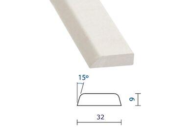 Meranti Glaslat GL15 Gegrond 9x32x4000mm