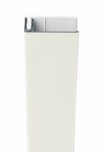 protex aluminium eindprofiel 2-delig wit ral 9016 3000mm