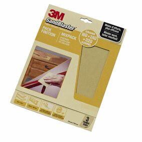 3m schuurvel sandblaster assortiment fijn p180-p240-p320 goud (set van 3 stuks)