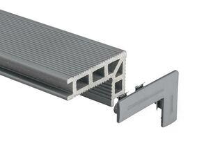 upm profi deck 150 hoekafwerking/traptrede eindkap steengrijs 100%pefc li/re (set van 12 stuks)