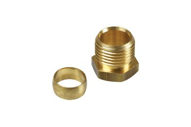 """Knelset Messing 1/2""""x15mm"""