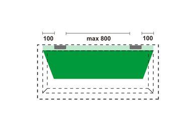 AXA Scharnier met stelpen 1103-24-23E Verzinkt 76x76mm