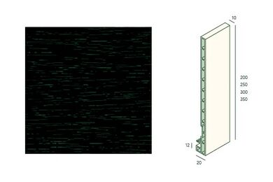 KERALIT 2835 Dakrandpaneel 350mm Monumentengroen Classic Nerf 10x350x6000mm