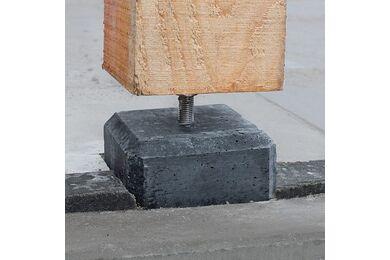Betonpoer Antraciet Recht Inclusief Verstelbare Plaat 170x170x580mm
