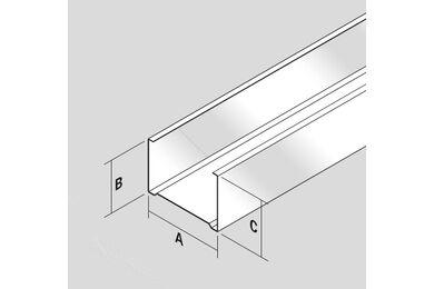 Metalstud vertikaal profiel Wand C100 Staal 3000mm