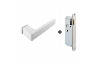 SKANTRAE Hang- en Sluitwerkpakket HSP812 Loopslot Dayton Mat Wit T.B.V. SSL Series